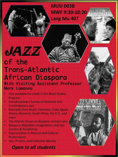 MUSI 003B - Jazz of the Trans-Atlantic African Diaspora