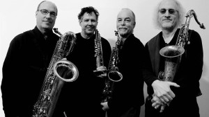 Rova Saxophone Quartet. Photograph by Myles Boisen.